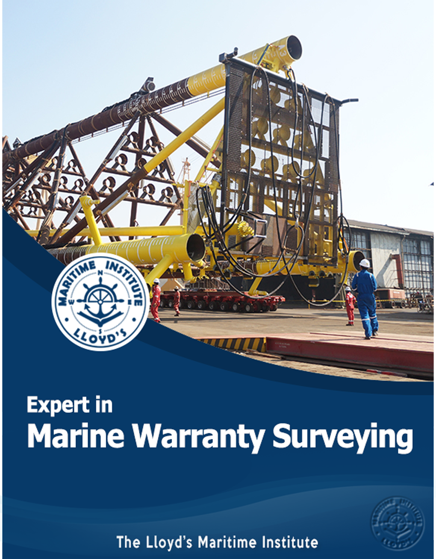 Marine Surveying Advanced Diploma – Expert in Marine Warranty Surveying