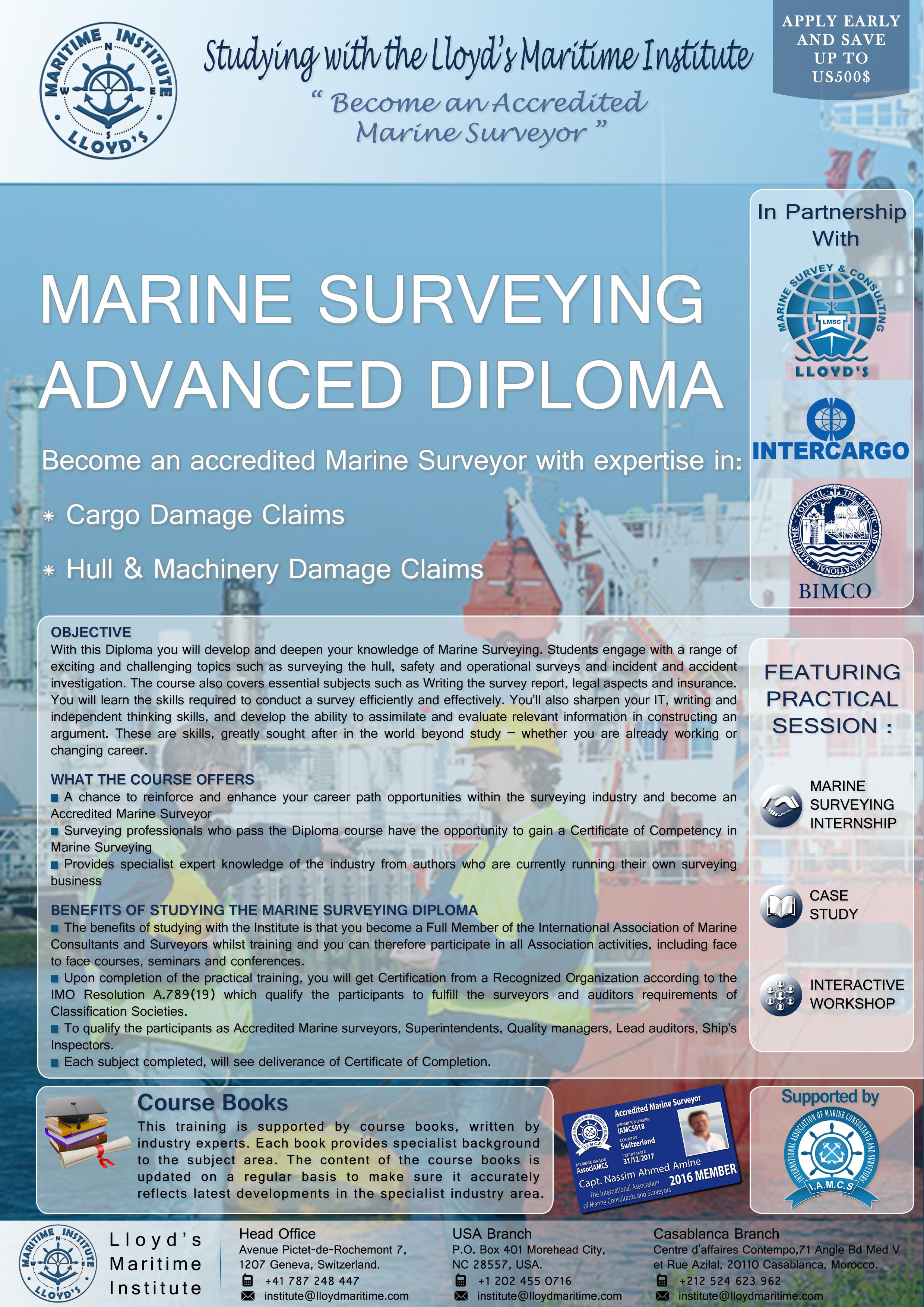 Marine Surveying Advanced Diploma